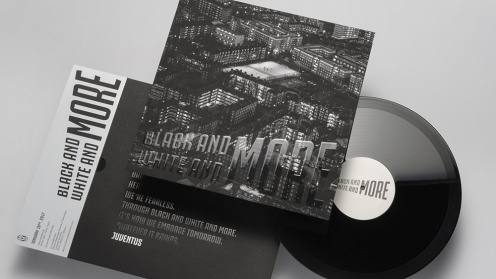 New Juventus logo music and records.