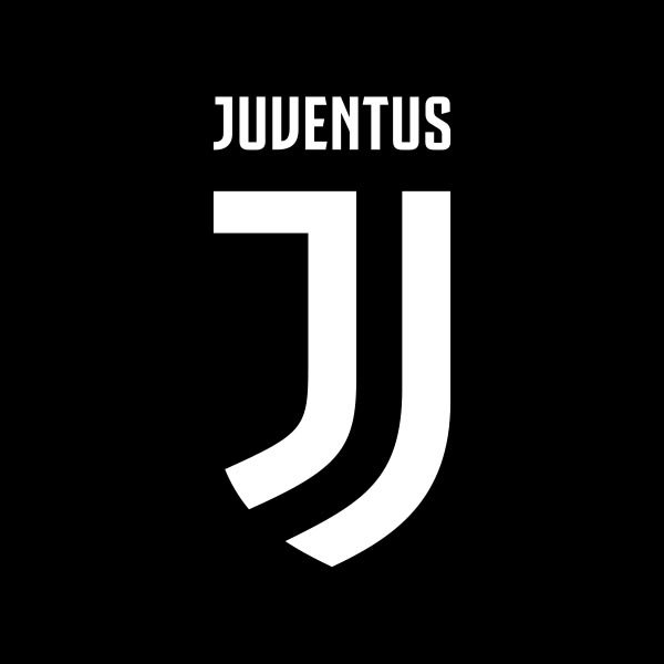 New Juventus football logo, brand and visual identity.