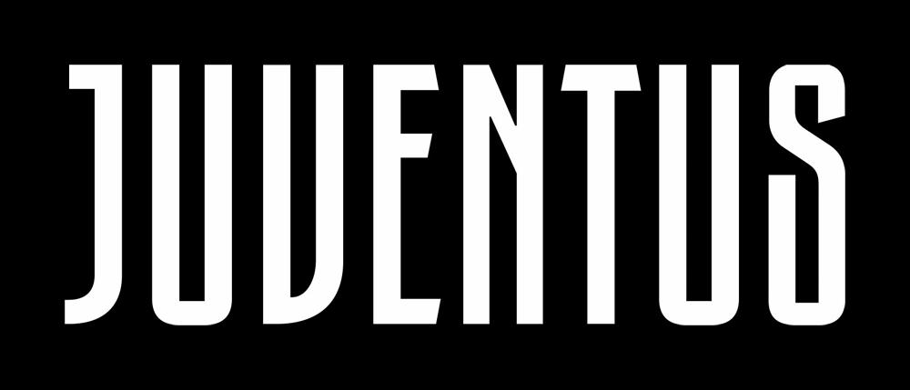 New Juventus logo wordmark detail.